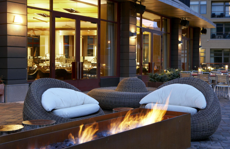 Outdoor fire pit at The Westin Riverfront Resort & Spa.