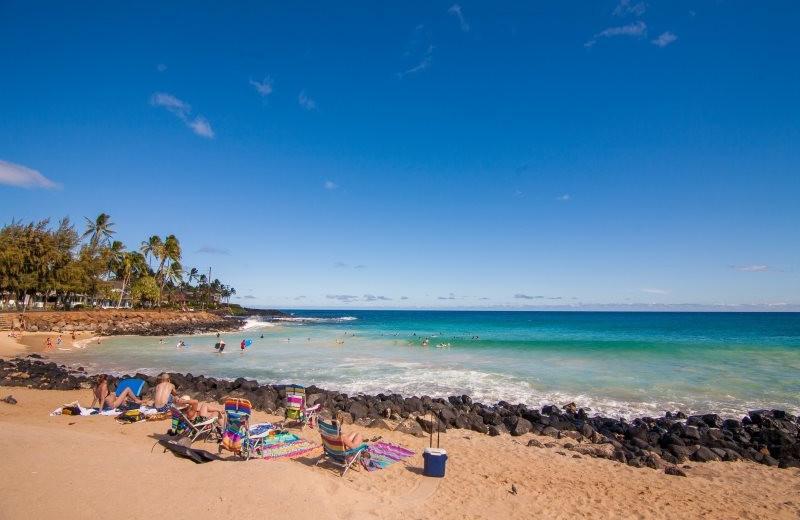 The beach at Great Vacation Retreats.