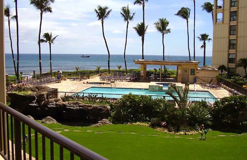 Balcony view from Sugar Beach Resort.