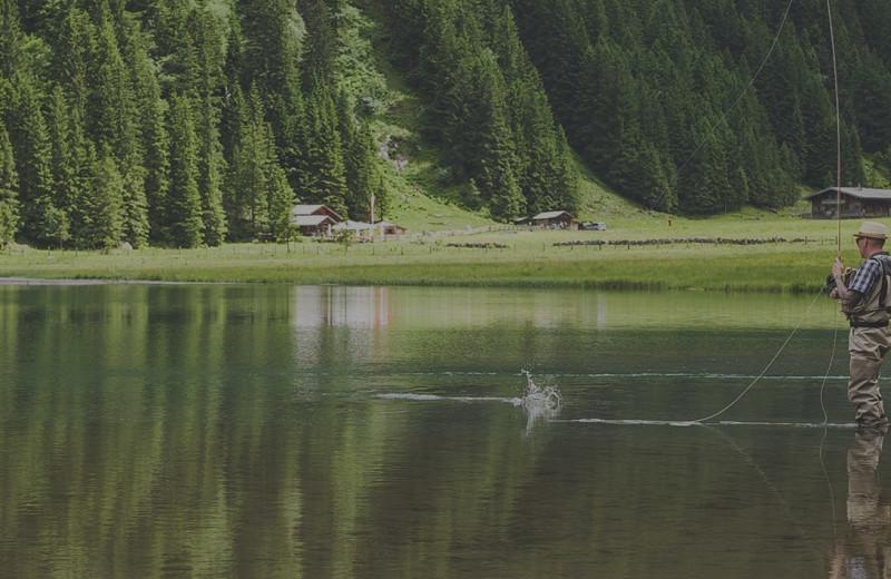 Fishing at The Lodge at Arrow Lakes.