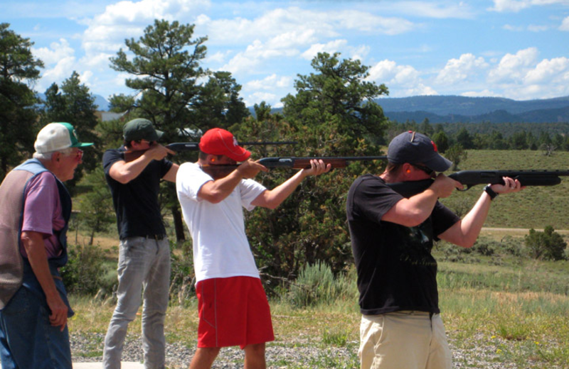 Shooting practice at Colorado Trails Ranch.