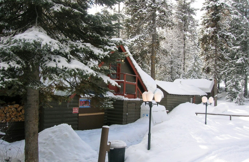 Winter at North Shore Lodge & Resort.