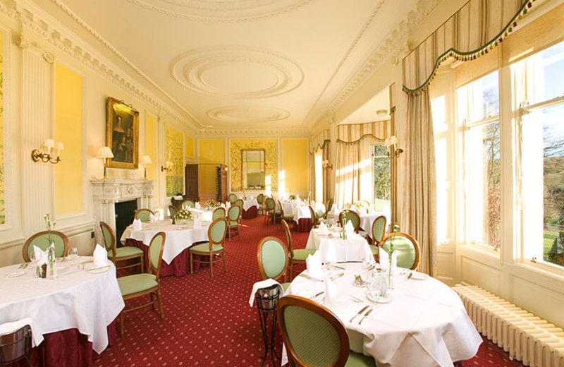 Dining at Ballathie House Hotel.
