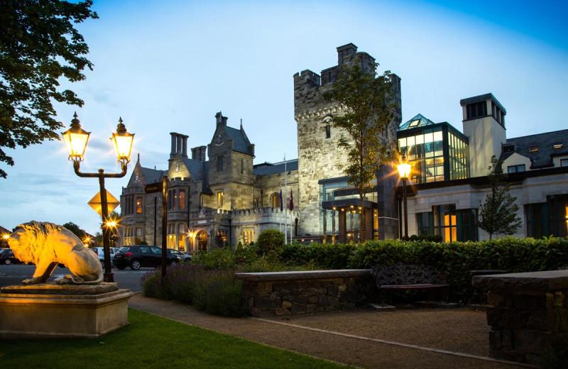 Exterior view of Clontarf Castle.