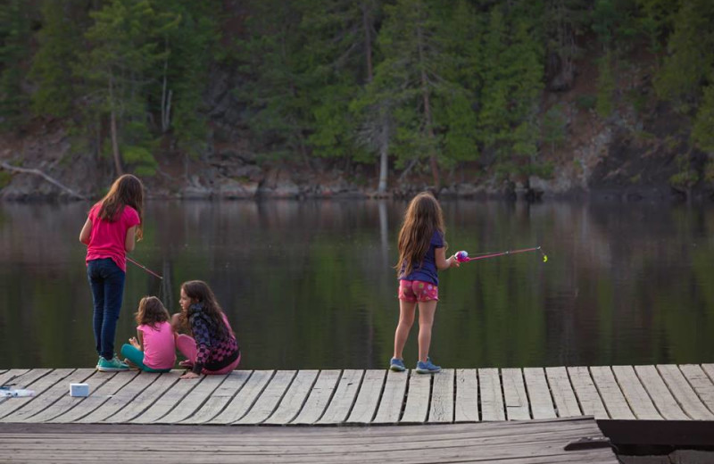 Dock at Mattawa River Resort.