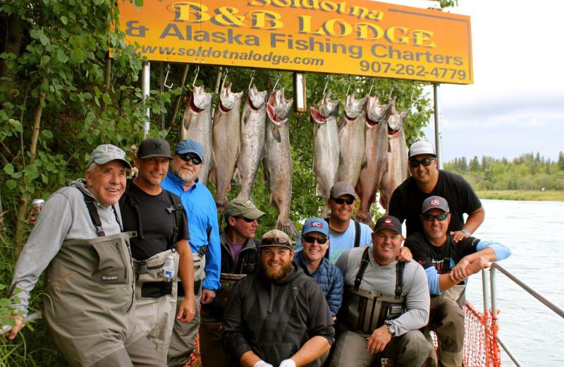 Fishing at Alaska Fishing Lodge.