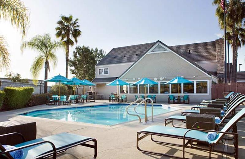 Outdoor pool at Residence Inn by Marriott Pasadena - Arcadia.
