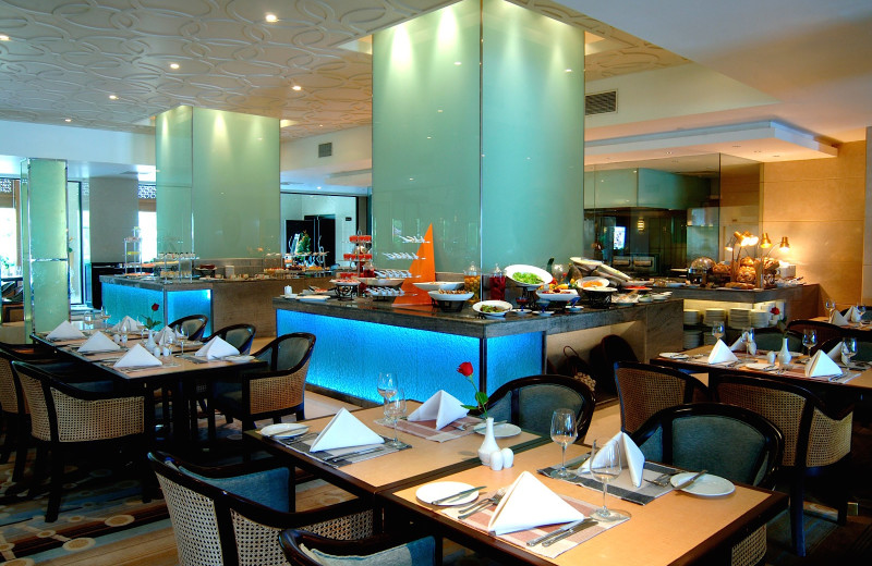 Dining at Trans Asia Hotel.