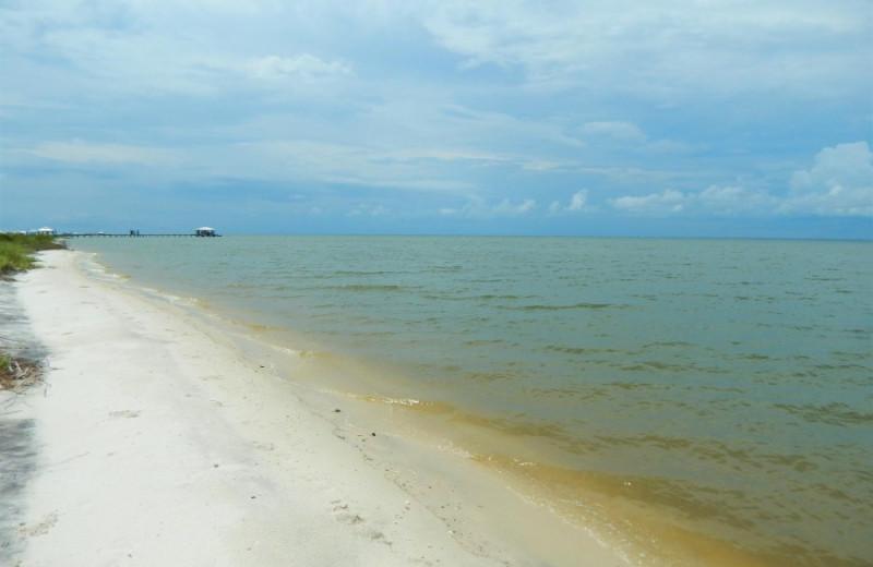 Beach at ACP Vacation Rentals.