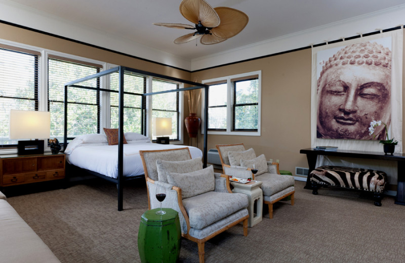 Guest room at Gaige House Inn.