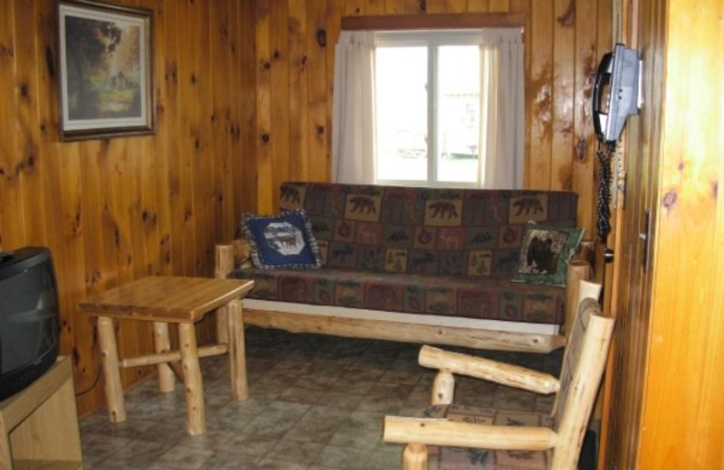 Interior cottage view at Diamond Cove Cottages.