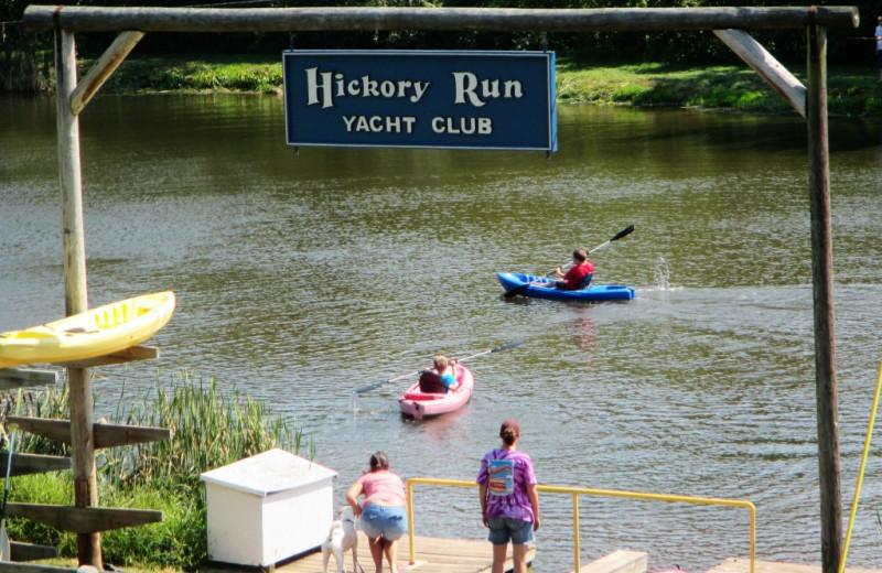 Lake at Hickory Run Family Campground.