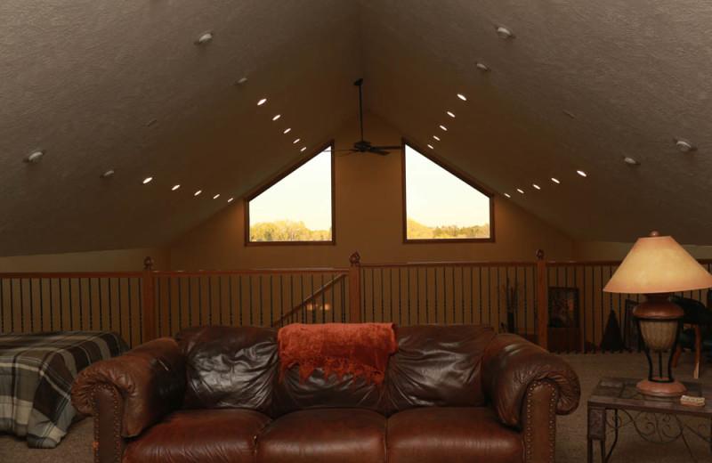 Guest loft at Granite Springs Lodge.