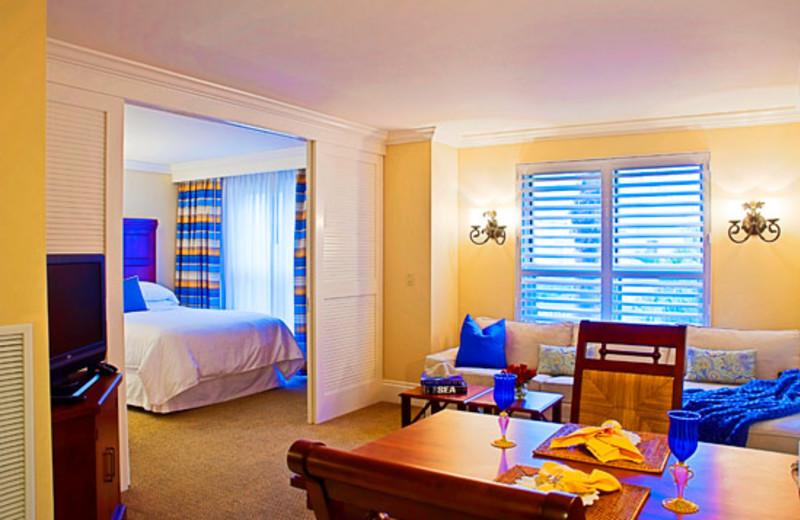 Suite interior at Sheraton Suites Key West.