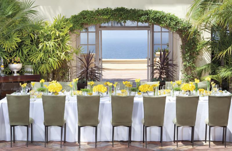Reception at The Ritz-Carlton, Laguna Niguel.