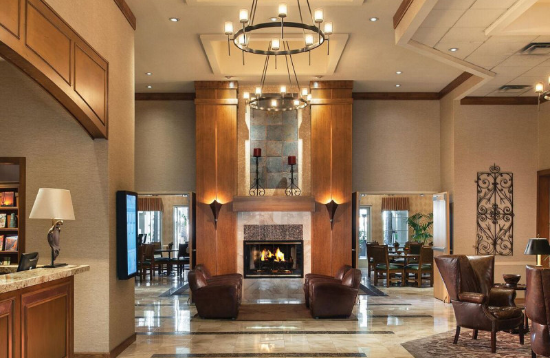Lobby at Gainey Suites Hotel.