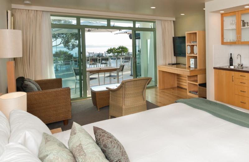 Guest room at Paihia Beach Resort.
