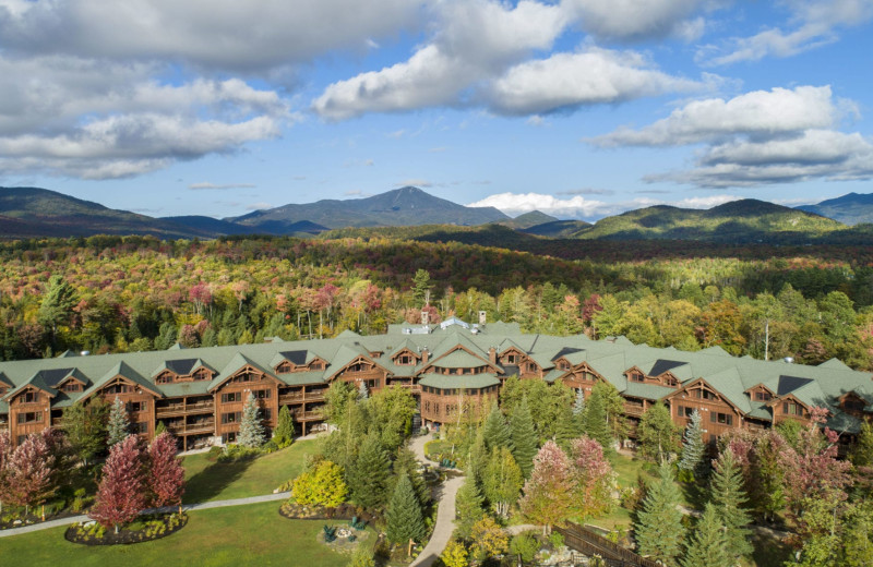 Fall view at The Whiteface Lodge.