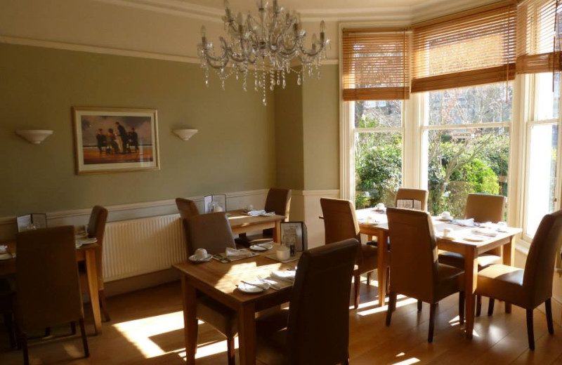 Dining room at Arden House Hotel.