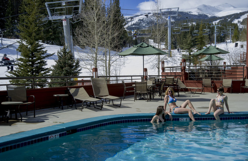 Heated outdoor pool at Beaver Run Resort & Conference Center.