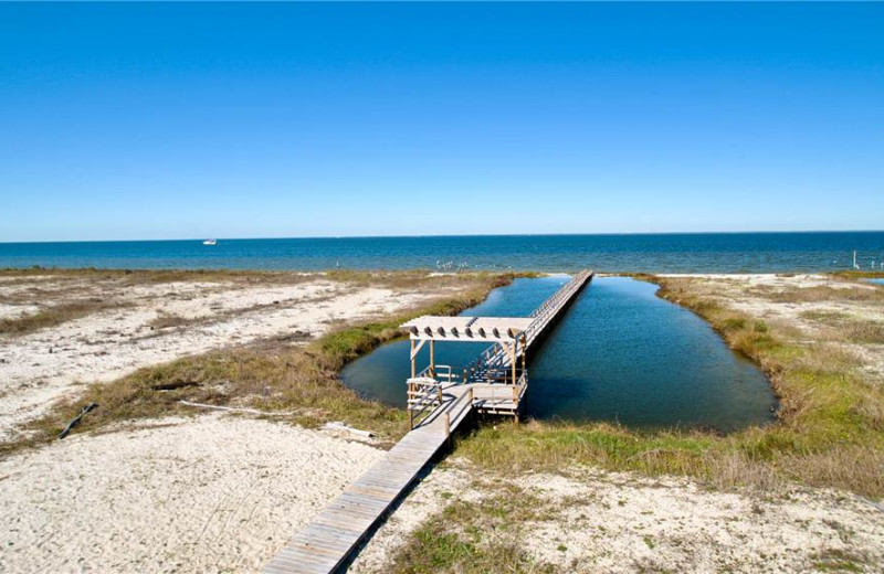 Rental dock at Dauphin Island Beach Rentals, LLC.