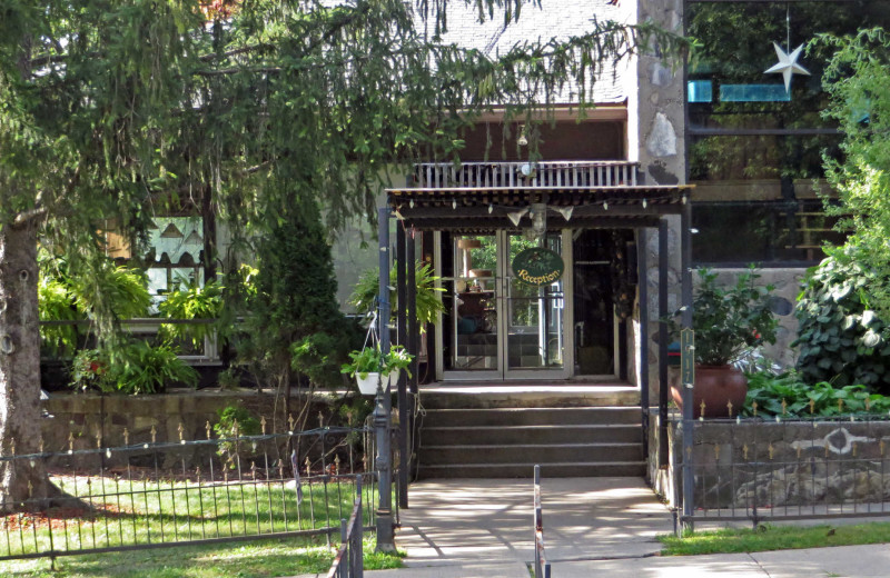 Entrance at Stone Chalet Bed and Breakfast Inn and Event Center.