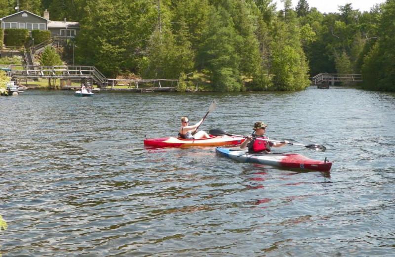 Kayaking at Fernleigh Lodge.