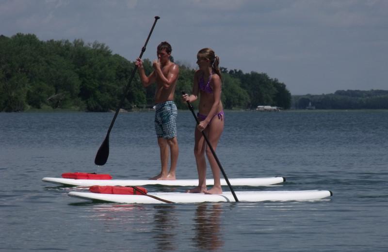 Paddle board at Bonnie Beach Resort.