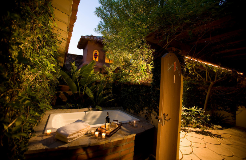 Outdoor hot tub at Andalusian Court.