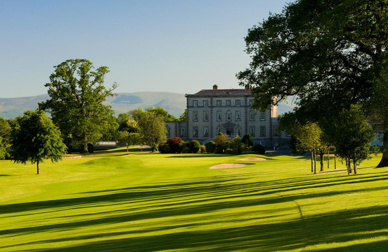 Exterior view of Dundrum House Hotel Golf and Leisure Club.