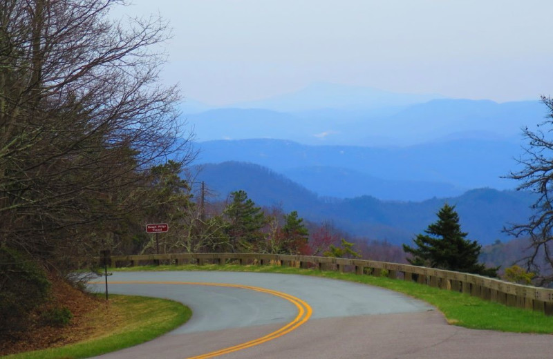 Scenic drive near Asheville Mountain House.