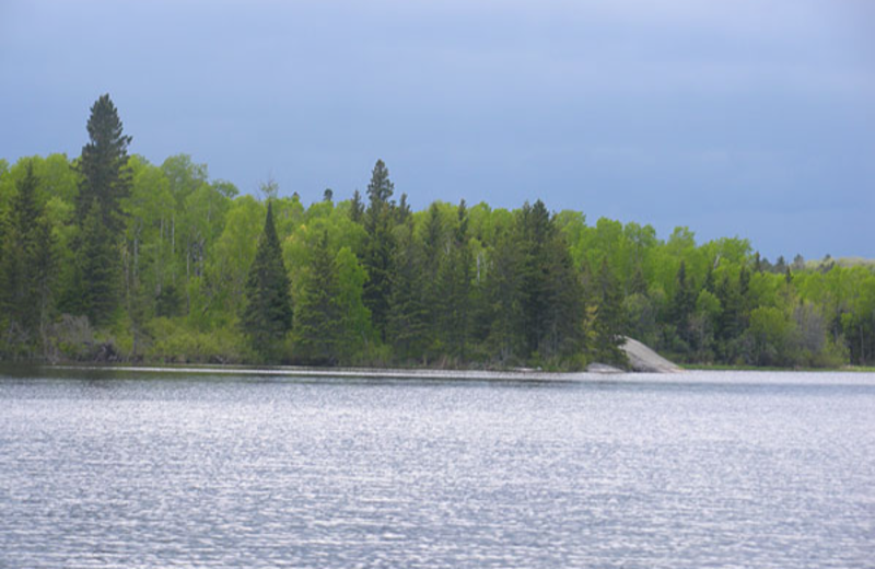 The lake at Angle Inn Lodge.