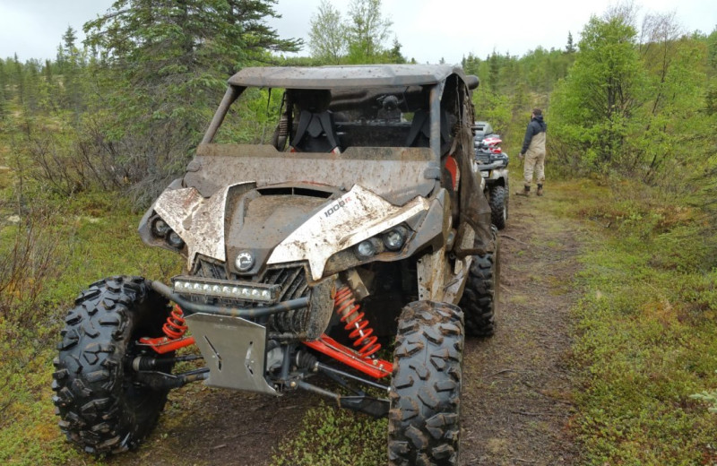 ATV at Alaska's Gold Creek Lodge.