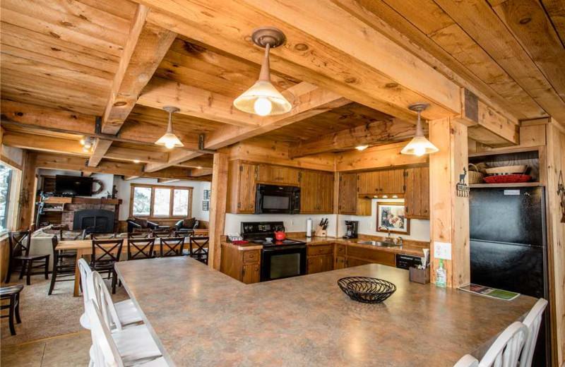 Cabin interior at Big Powderhorn Lodging Association.
