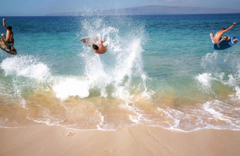 Surfing at Gulf Winds Resort Condominiums.