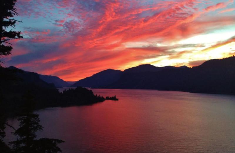 Sunset at Westcliff Lodge.