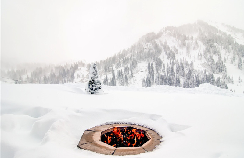 Fire pit at Snowpine Lodge.