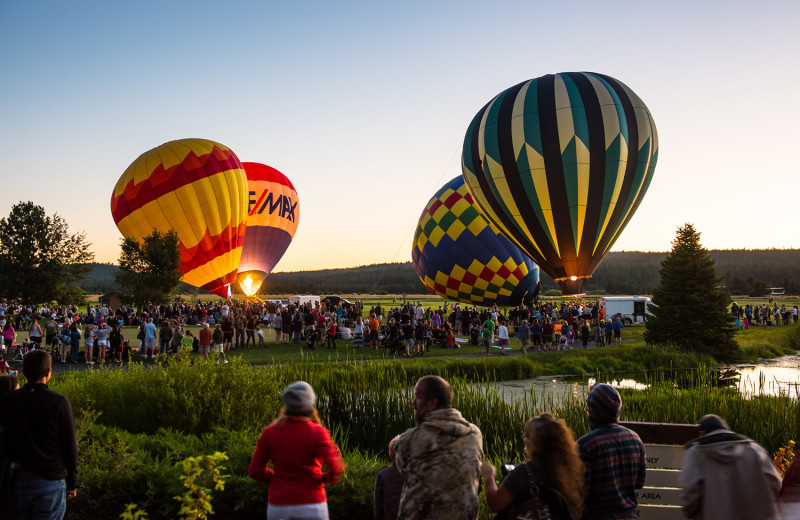 The annual Balloons Over Sunriver Night Glow is just one of the many events at Sunriver Resort