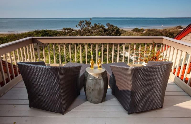 Guest balcony at Ocean Edge Resort & Golf Club.
