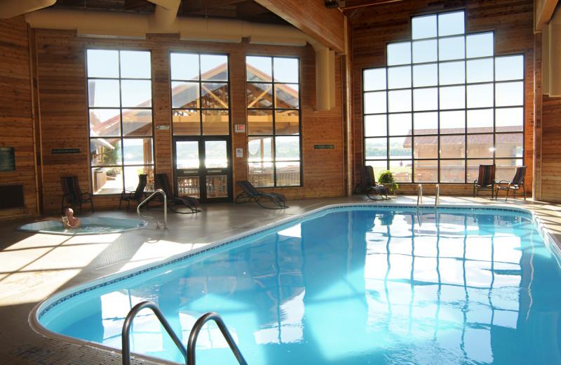 indoor pool at Cedar Shore Resort.