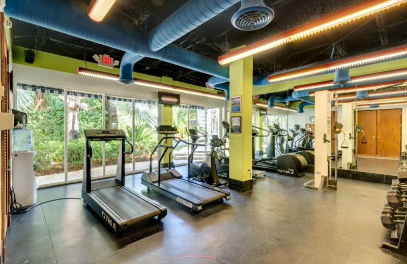 Fitness room at Barefeet Rentals.