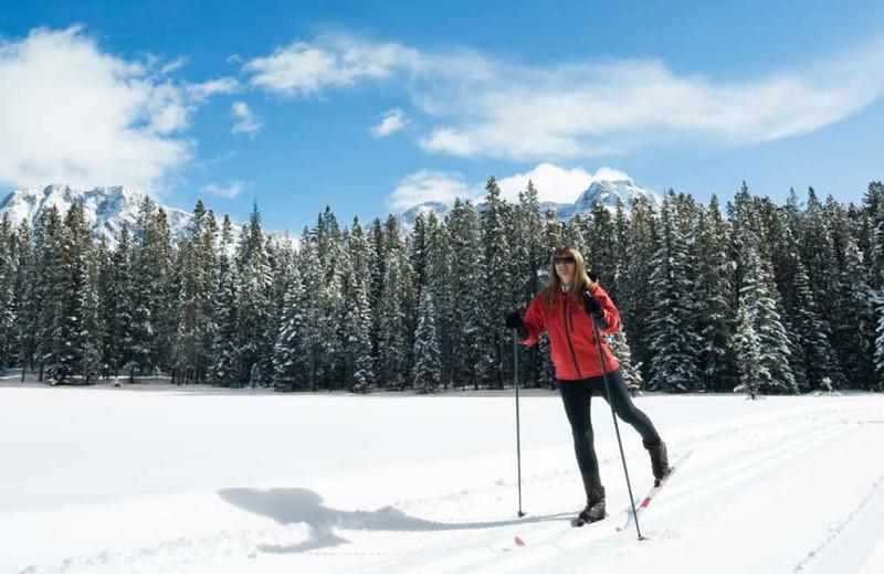 Skiing at C Lazy U Ranch.