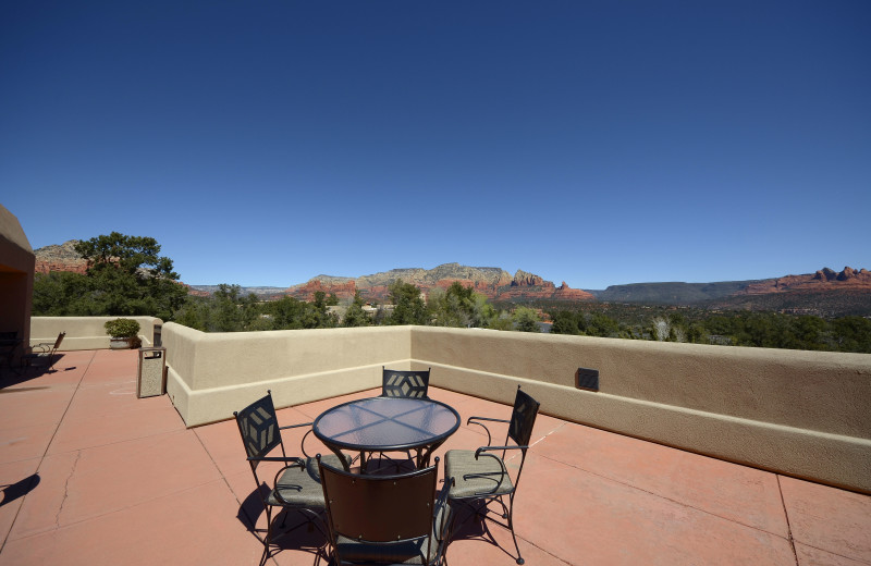 Balcony view at Inn of Sedona.