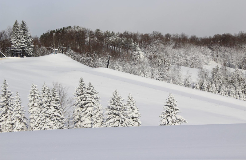 Ski slope at Otsego Club and Resort.