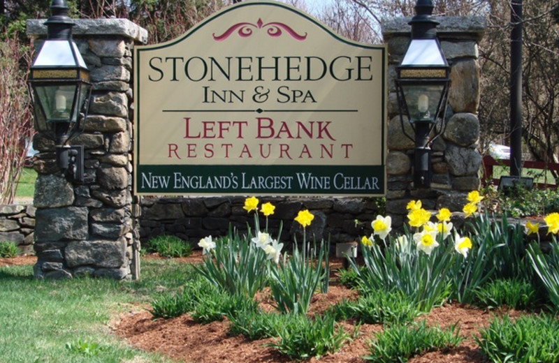 Entrance to Stonehedge Inn and Spa.