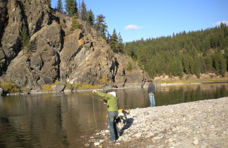 Fishing at Montana River Lodge.
