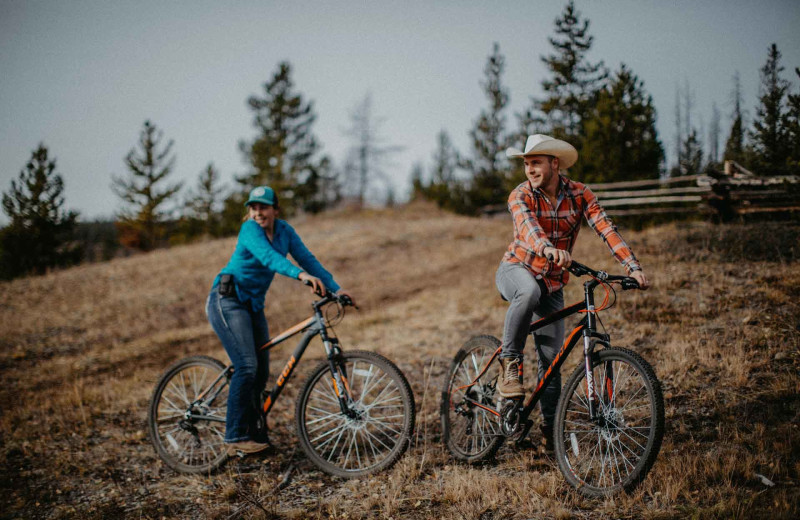 Biking at Big Creek Lodge.