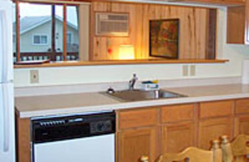 Cabin kitchen at Limmer's Resort.