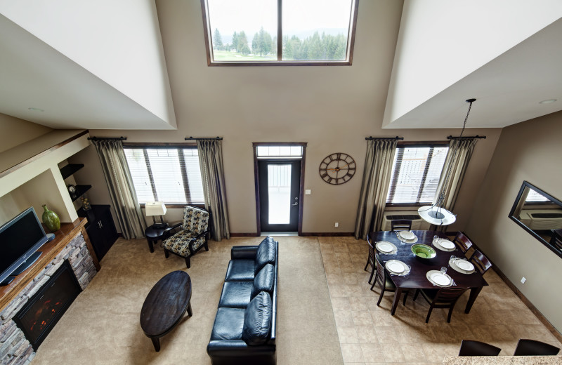 View of guest room at Bighorn Meadows Resort.