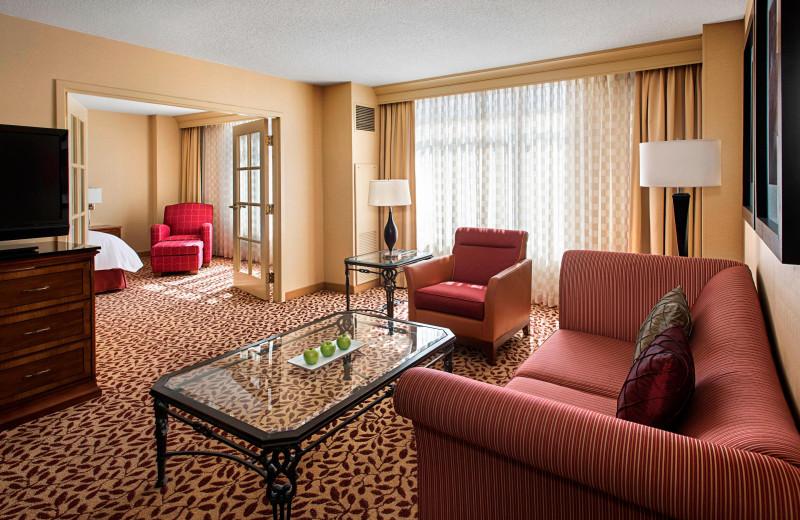 Guest room at Bridgewater Marriott.